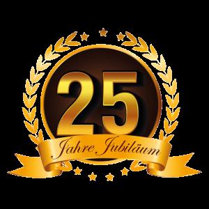 25-Jahre-Jubiläum-Gold
